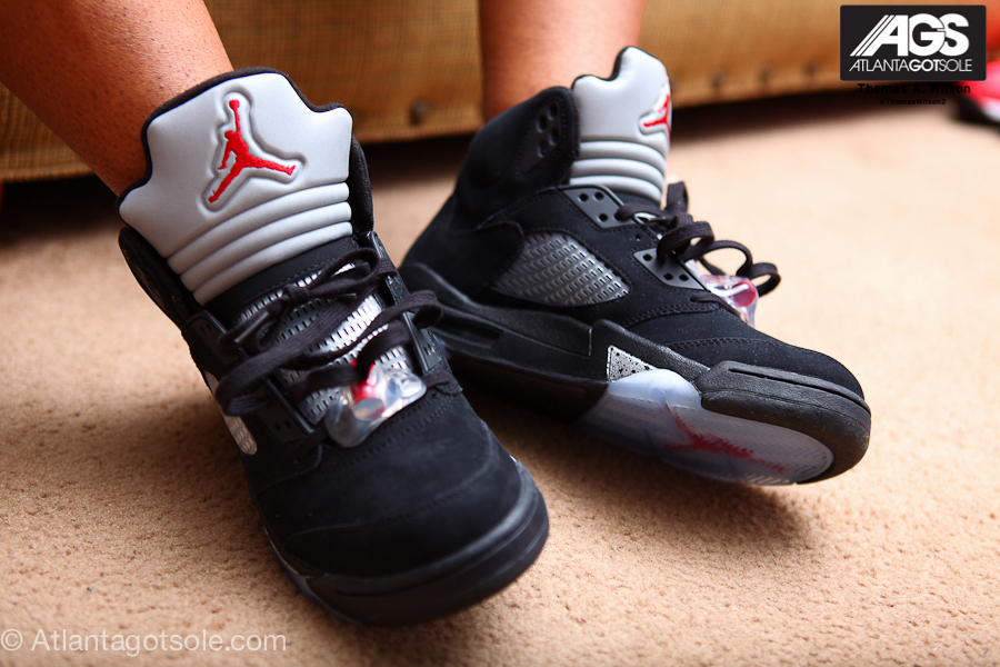 finest selection 80062 f1480 Air Jordan V Retro Black/Metallic Silver - New Pics - Air 23 ...