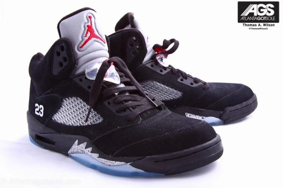new arrival b7eaa aee3c Nike Air Jordan Retro 5 V Black Metallic OG Sz 4-15 Black Red Silver  845035-003