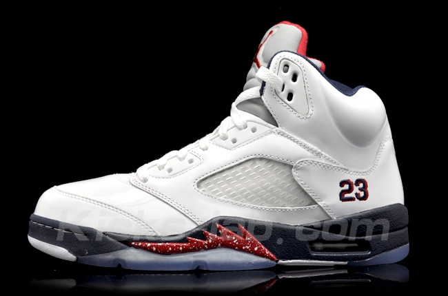 low cost b45ad 62ce4 819171-135 Men Air Jordan 5 V Retro Low Dunk From Above White Navy