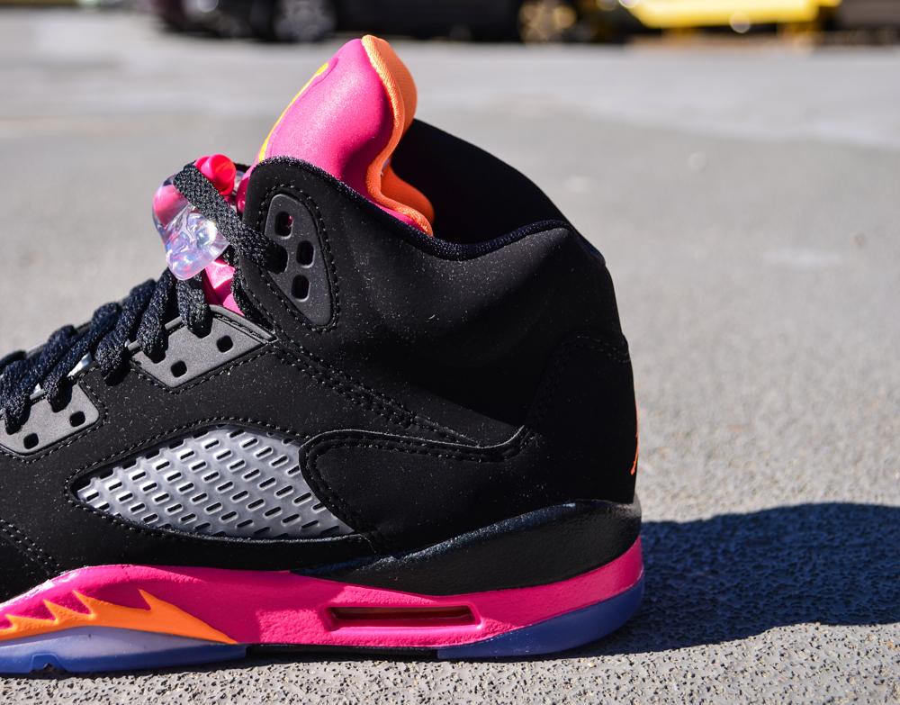 48ab28e0dbf54e Air Jordan V (5) Retro GS - Black  Bright Citrus-Fusion Pink - New Images  and Release Info