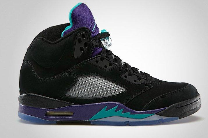the best attitude cf593 6fc2b Air Jordan 5 (V) Retro Color  Black New Emerald-Grape Ice Style   136027-007. Release  06 15 2013. Price   160.00