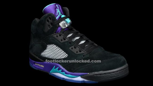 size 40 18047 8b5cd Color  Black New Emerald-Grape Ice Style  136027-007. Release  06 15 2013.  Price   160.00. Nike Air Jordan Retro 5 V Black New Emerald Grape  136027-007 Size ...