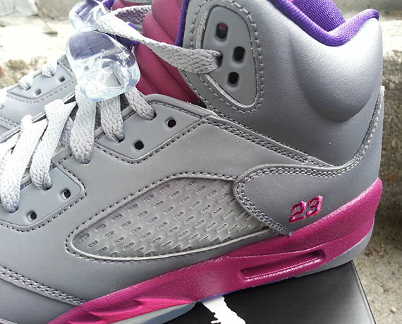 88ef447d0293 Air Jordan 5 (V) Retro GS Color  Cement Grey Pink Foil-Raspberry Red Style   440892-009. Release  08 10 2013. Price   115.00