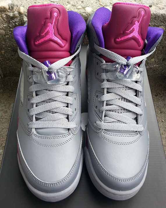 d513d9047097 Color  Cement Grey Pink Foil-Raspberry Red Style  440892-009. Release   08 10 2013. Price   115.00. Air Jordan V Retro Women s size 8.5 Pink 5 Wolf  Grey 2006