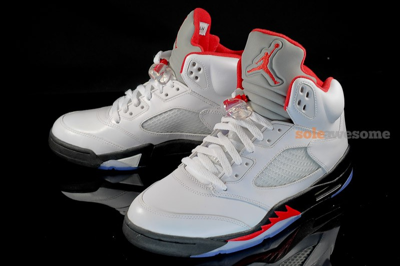 best loved 1442f a2777 Release Reminder: Air Jordan V Retro White/Black-Fire Red