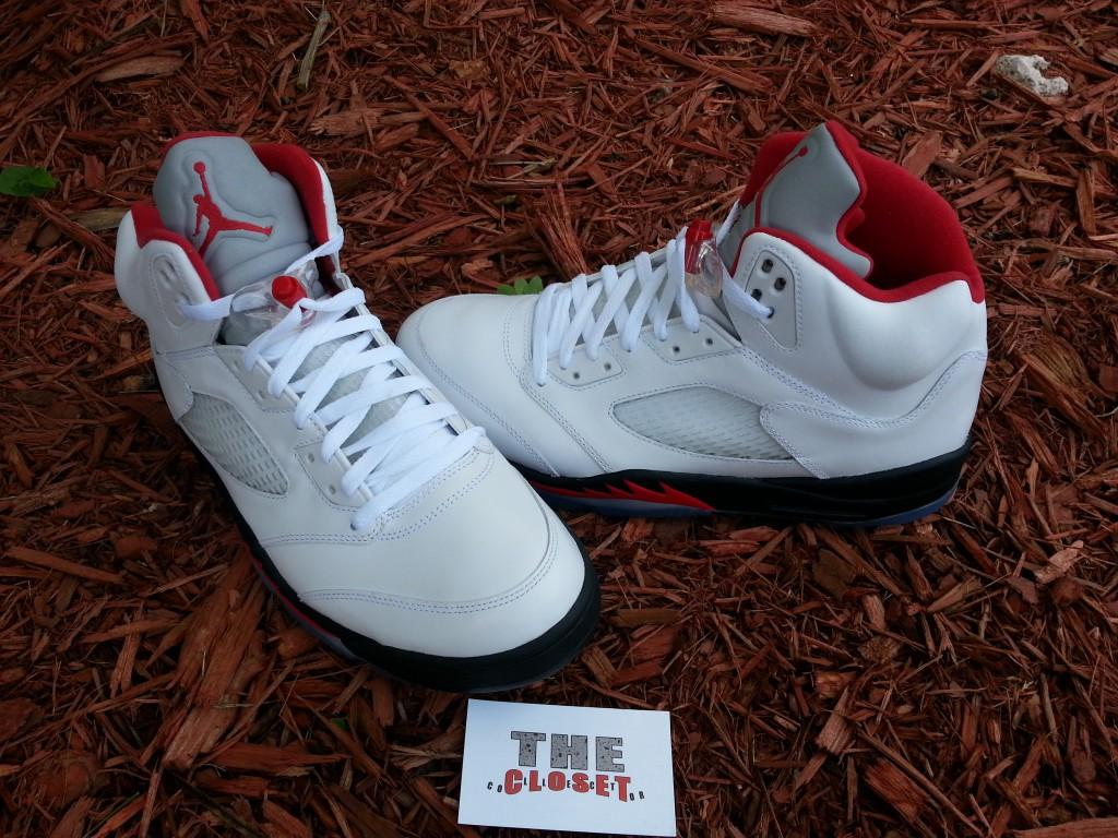 pretty nice 1ad77 473a4 2017 DS Nike Air Jordan 5 V Retro Camo Dark Stucco Fire Red 3M 136027-051  Size