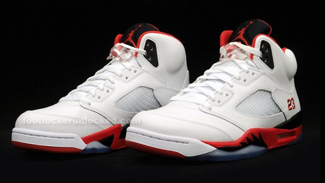 b293a53a9c750d Air Jordan 5 (V) Retro Color  White Fire Red-Black Style  136027-120.  Release  08 31 2013. Price   160.00