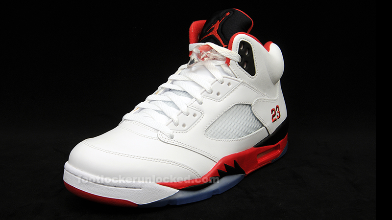 Reminder: Air Jordan 5 Retro White/Fire Red-Black Releases ...