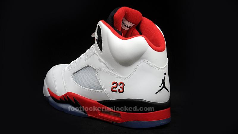 d8f22a519f5194 Air Jordan 5 (V) Retro White Fire Red-Black Release Info