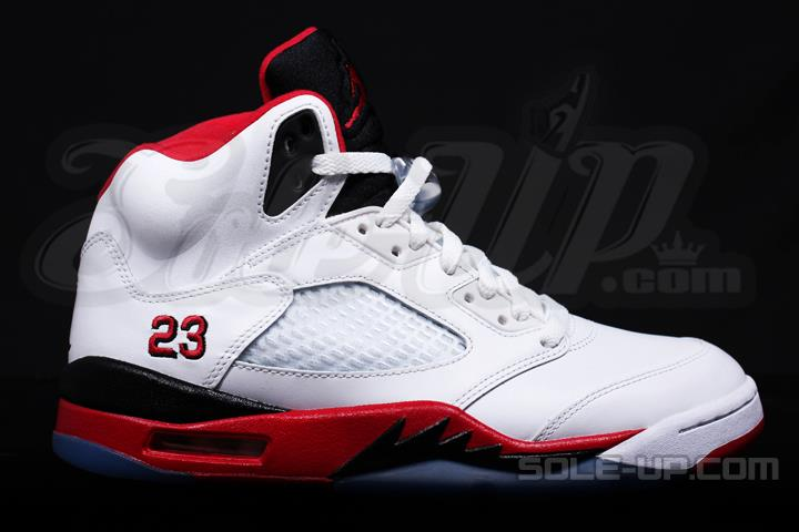 more photos bd97b 3bb47 2013 Air Jordan V (5) Retro White Fire Red-Black - New Images