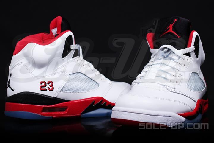 2013 Air Jordan V (5) Retro White Fire Red-Black - New Images 5a22ccc78