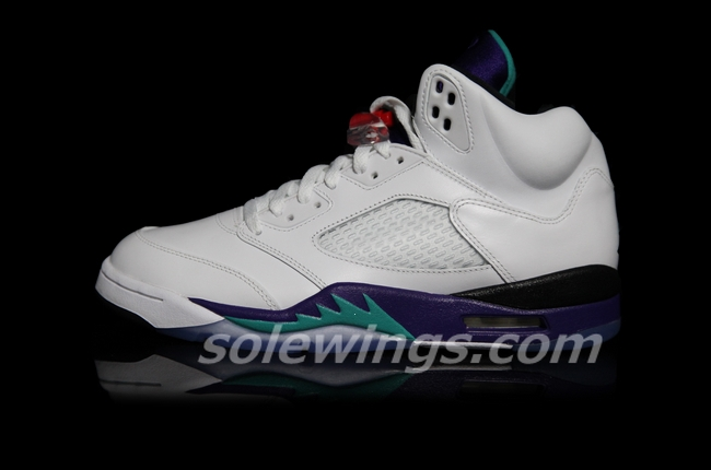 check out 32f1f 41263 Air Jordan 5 (V) Retro Color  White Emerald Green Grape-Ice Style  136027- 108. Release  04    2013