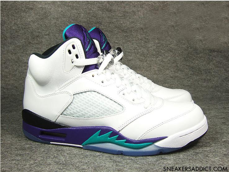 """Air Jordan V Retro """"Grape"""" New Images"""