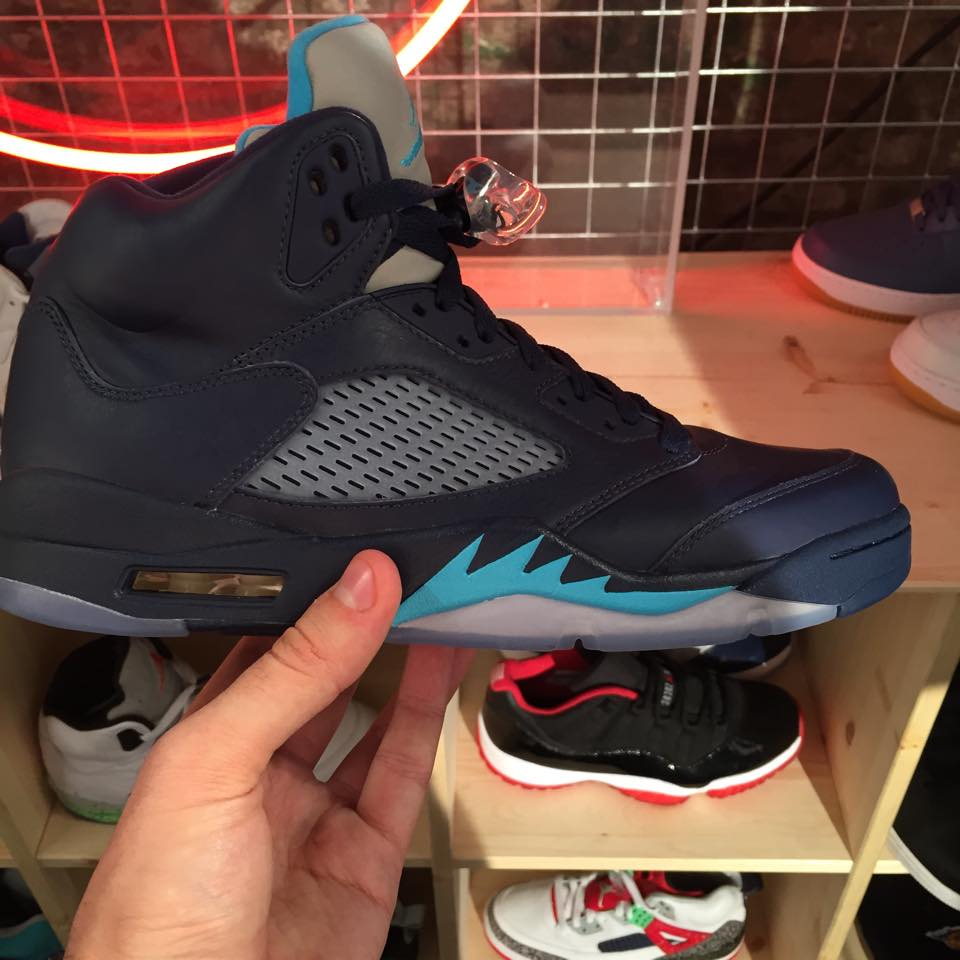 Air Jordan 5 Retro Color  Midnight Navy Turquoise Blue-White Style  136027- 405. Release  05 02 2015. Price   190.00 6fca74fe3