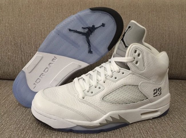 sale retailer cf45b 128ef Air Jordan 5 (V) Retro Color  White Metallic Silver-Black Style   136027-130. Release  04 04 2015. Price   190.00