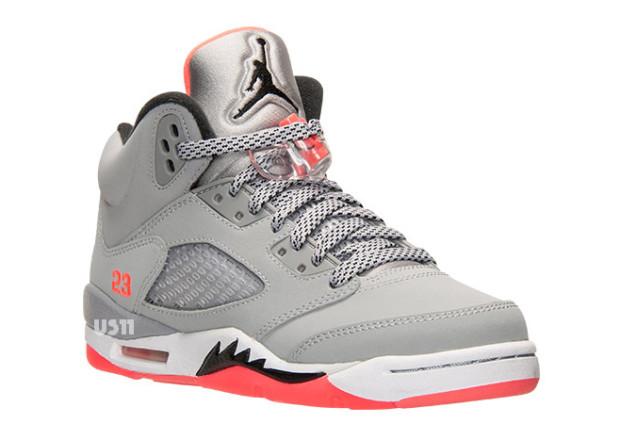 new concept adad2 8637e Girls Air Jordan 5 (V) Retro Wolf Grey Black-Hot Lava-White Style  440892- 018. Release  05 09 2015. Price   160.00