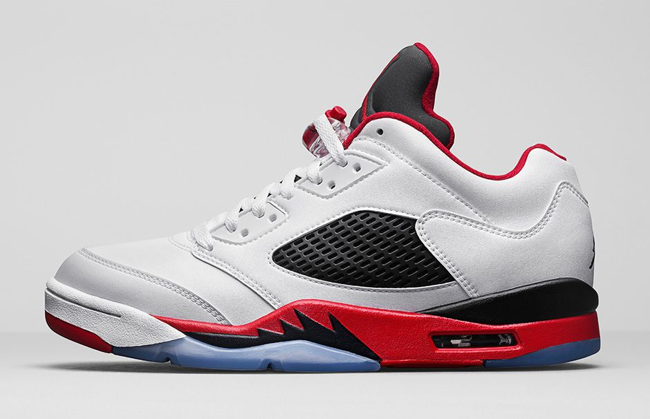 64050a6d3980 Air Jordan 5 Retro Low Fire Red - Official Images - Air 23 - Air ...