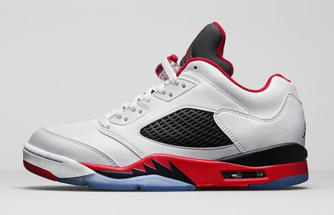 air jordan 5 retro low fire red