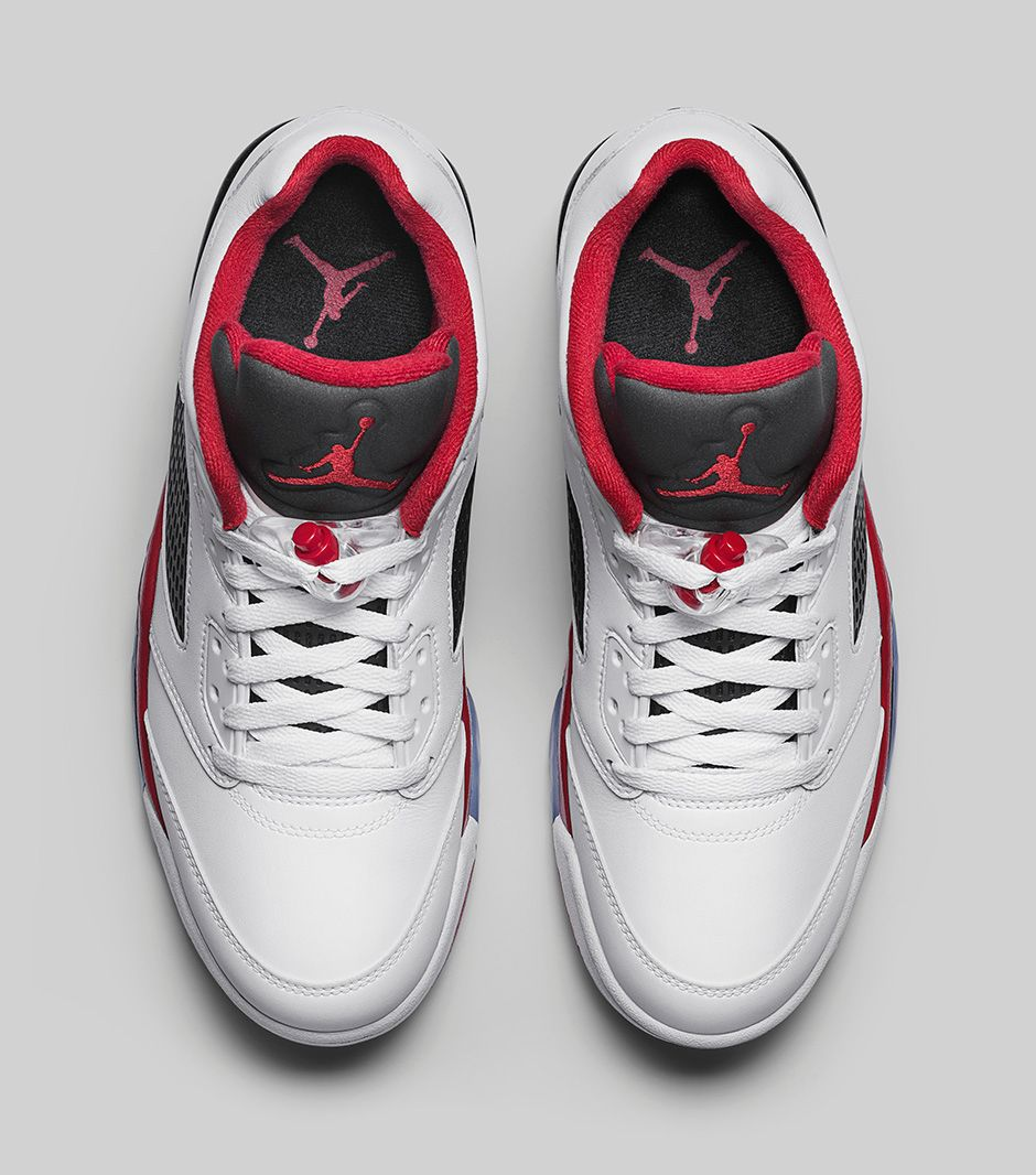 d2e06eaa931 Air Jordan 5 Retro Low Fire Red - Official Images - Air 23 - Air ...