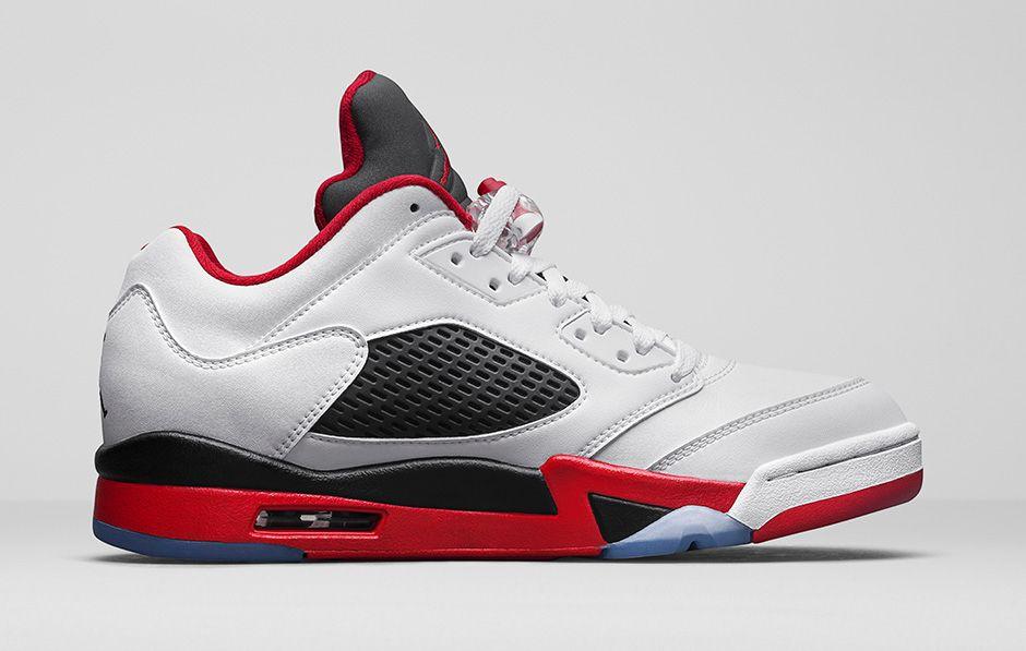 timeless design a5251 f110f Nike AIR JORDAN🔥 V 5 Retro Low- Fire Red White Black🔥- SIZE 10🔥