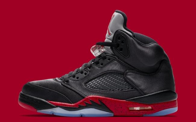 air jordan 5 black university red