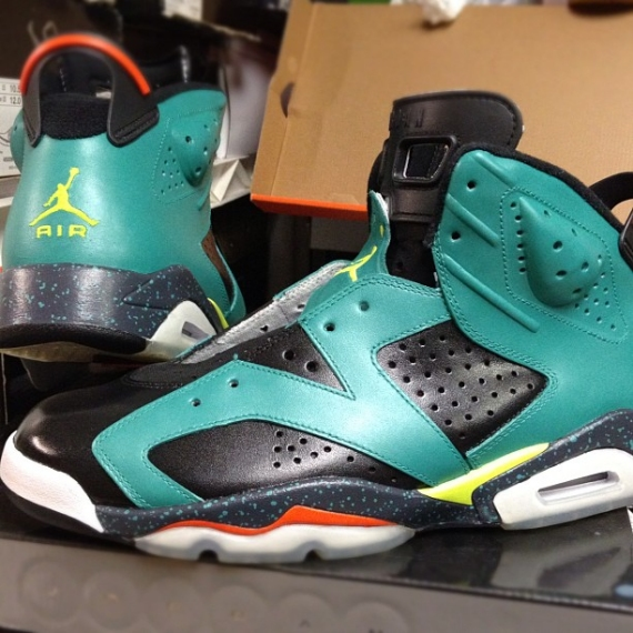 best service 1744f 9c210 Yellow and red accents and turquoise speckles complete the Cannon look.  What do you think of these  2017 Nike AIR JORDAN RETRO 6 VI GATORADE SUMMIT  ORANGE ...