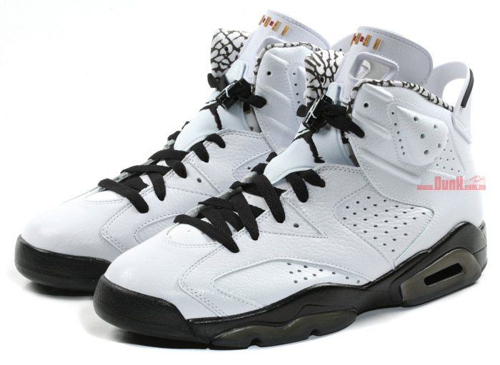 a00591d98152 NIKE AIR JORDAN 6 VI RETRO 6 RINGS MOTORSPORT OREO BLACK WHITE SIZE 11