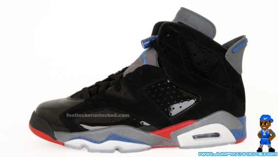 8288edc74988 Air Jordan 6 (VI) Retro Color  Black True Blue-Varsity Red (Detroit  Pistons) Release  04 17 2010