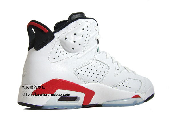 the latest 8f827 11006 Air Jordan VI Retro White/Varsity Red-Black Detailed Pics ...