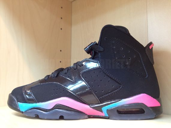 sale retailer cb9a7 8f925 Air Jordan VI Retro GS - Black/Pink Flash-Marina