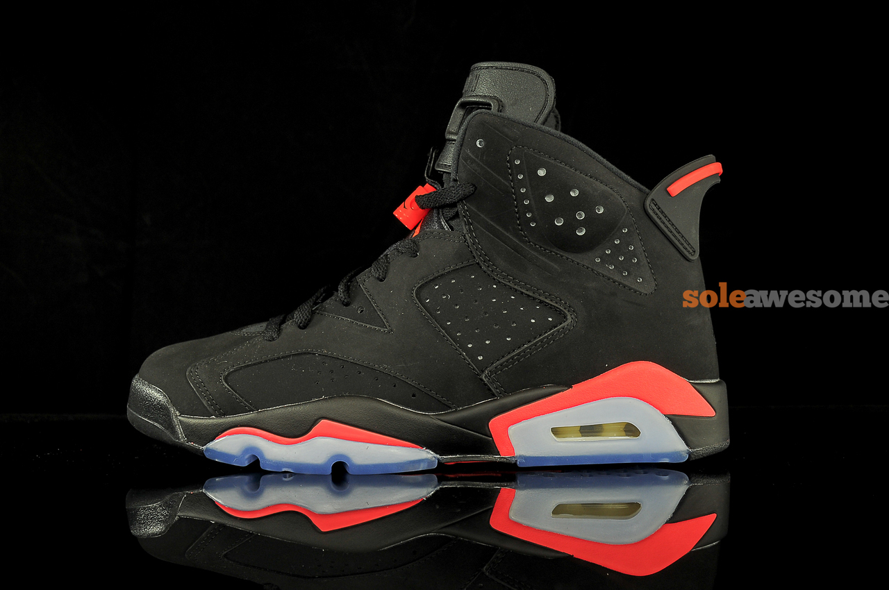 air jordan vi 6 black infrared new images air 23. Black Bedroom Furniture Sets. Home Design Ideas