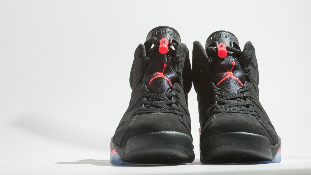 2014 Air Jordan 6 Retro VI Infrared Black Size 13