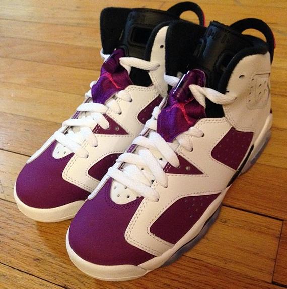 more photos db71b f34e6 Air Jordan 6 (VI) Retro GS Color  White Vivid Pink-Bright Grape-Black  Style  543389-127. Release  06 07 2014. Price   120.00