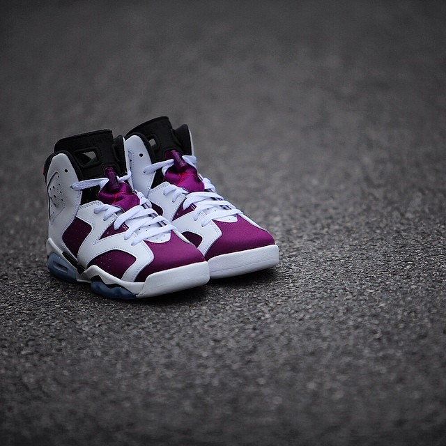"Air Jordan VI (6) Retro ""Bright Grape"" New Images - Air 23 ... Retro 6 Grapes"