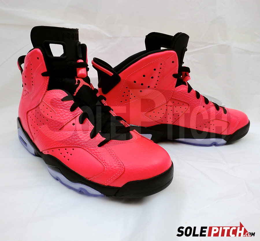 air jordan 6 vi retro infrared detailed images. Black Bedroom Furniture Sets. Home Design Ideas