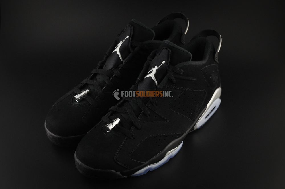 ab1d7c4fd23c Air Jordan 6 Retro Low - Black   Metallic Silver-White - Detailed Images