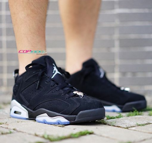 quality design 31dc3 36f75 Air Jordan VI Retro Low - Black / Metallic Silver-White ...