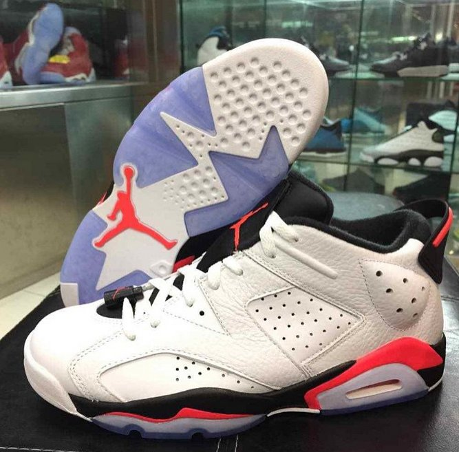 "new product f003e 74374 Air Jordan VI Retro Low ""Infrared"" New Images"
