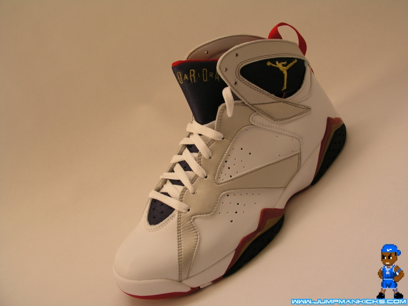 "watch 27640 6f5e3 Air Jordan Retro 7 ""Olympic"" Color  White Metallic Gold-Obsidian-True Red  Style  304775-135. Release  07 21 2012. Price   160.00 – Men s"