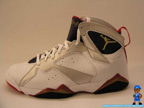 sale retailer db703 dcb91 Color  White Metallic Gold-Obsidian-True Red Style  304775-135. Release   07    2012. USED Air Jordan 7 Retro VII Olympic Sz 10 2004 MJ OG Jumpman 5 6