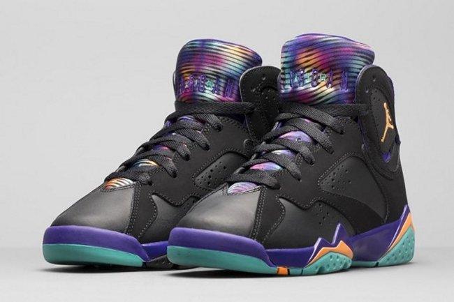 7005a596473255 Girl s Air Jordan 7 (VII) Retro Color  Black Bright Citrus-Court  Purple-Light Retro Style  705417-029. Release  04 18 2015. Price   140.00