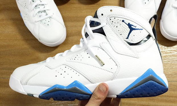 best website bf64a 158a6 Air Jordan 7 (VII) Color  White French Blue-Flint Grey Style  304775-107.  Release  01 24 2015