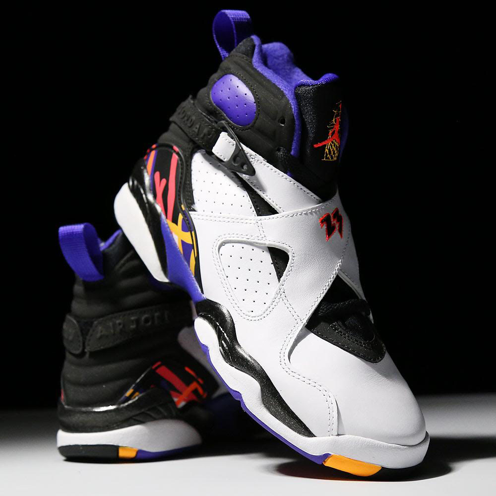 nike air jordan viii retro bg three peats classic