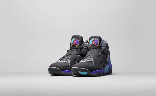 56e8d52512a029 Air Jordan 8 (VIII) Retro Color  Black True Red-Flint Grey-Bright Concord  Style  305381-025. Release Date  11 27 2015. Price   190.00. 2015 Nike ...
