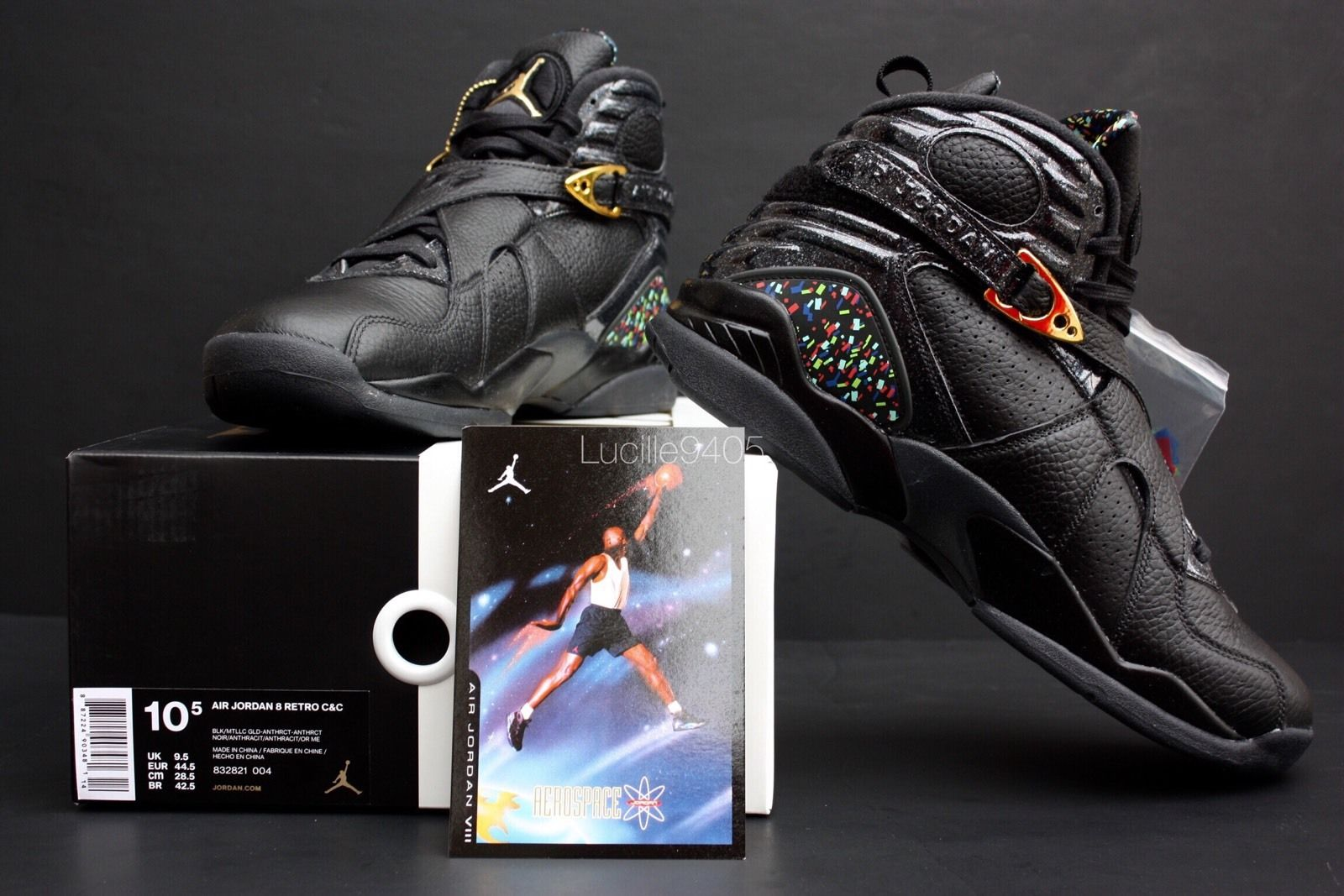 7f3e5c66eb42d5 Air Jordan 8 Confetti from the Championship Pack - New Images - Air ...