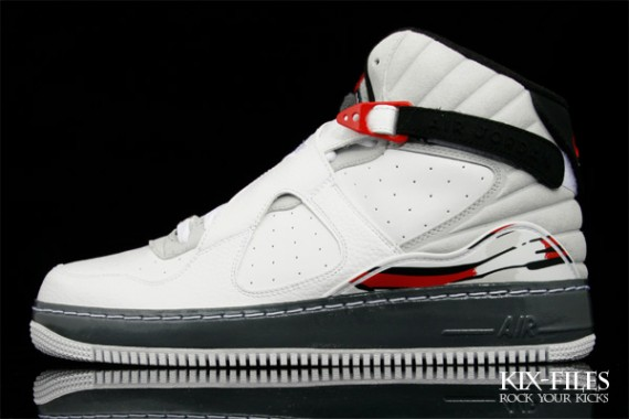 best service 296fd 9327f You find the upper of the Air Jordan VIII, combined with the sole of the Air  Force 1. You can get the white black-varsity red colorway now on Kix-Files  as ...