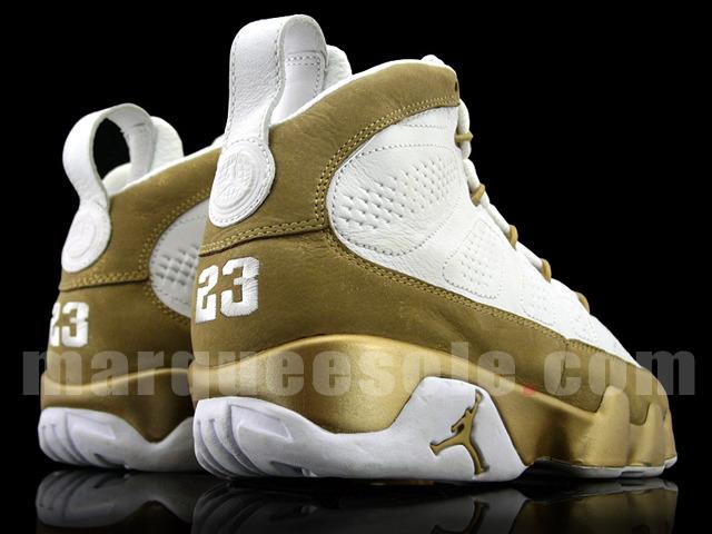 detailed look 5bb43 8585e Nike Air Jordan Retro 9 IX Premio Bin 23 Series White Gold Size 9 Vnds