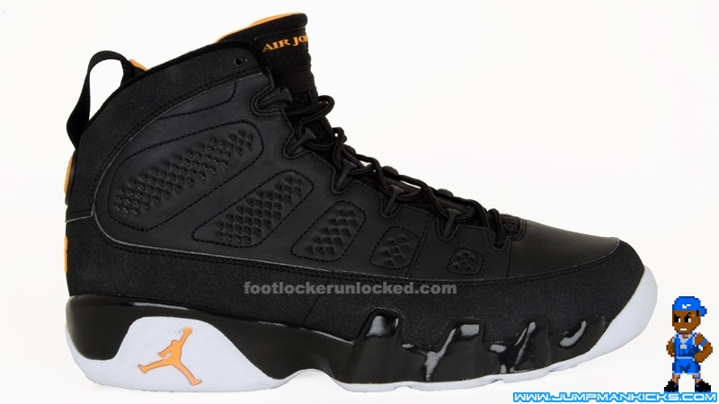 the latest f8e9a 0d6e1 Nike Air Jordan 9 Retro Black Citrus White Size 13 (L758)