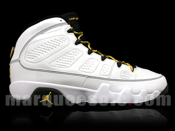 size 40 de476 de96b Citrus yellow has been used on the laces and rear logo. No official release  date for these yet, but stay tuned. Nike Air Jordan 9 Retro ...