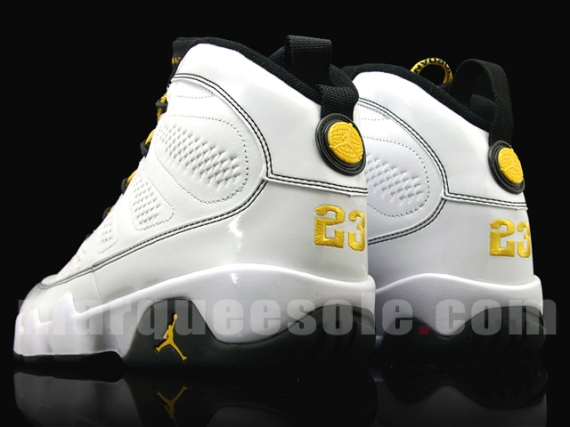 size 40 1a738 f565f Citrus yellow has been used on the laces and rear logo. No official release  date for these yet, but stay tuned. Nike Air Jordan 9 Retro ...